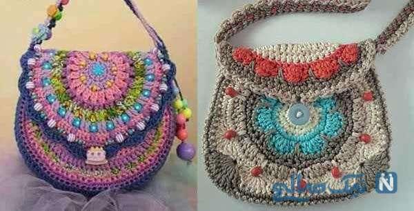 ساده ترین مدل تزیین کیف با مهره های رنگی