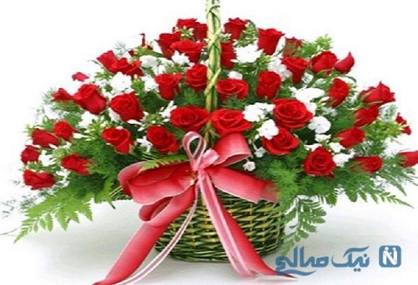 تزئینات انواع سبد گل+تصاویر