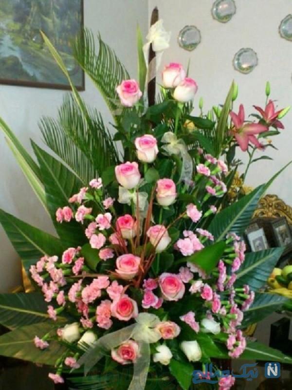 تزیین سبد گل مصنوعی