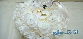 تزیین کوسن برای حلقه های ازدواج+تصاویر