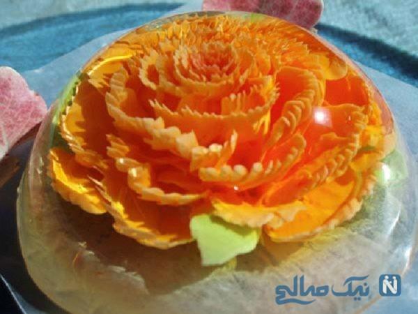 مدل های تزیین ژله گلدار