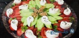 تزیین نان و پنیر و سبزی برای افطار+تصاویر