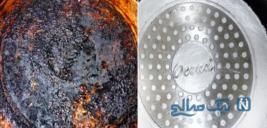 چگونگی برق انداختن قابلمه و تابه های سیاه و سوخته