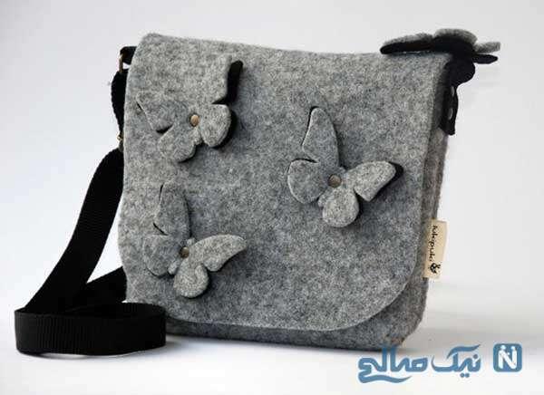 تزئین کیف های ساده با پر