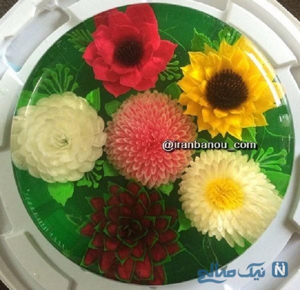 تزیین ژله تزریقی گلدار