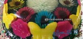 تزیین ژله تزریقی گلدار +تصاویر