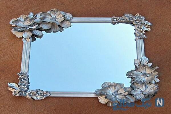 آموزش تزیین قاب عکس یا آینه +تصاویر