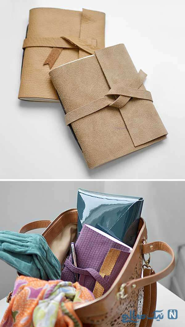 دفتر طراحی با جلد چرمی بسازید