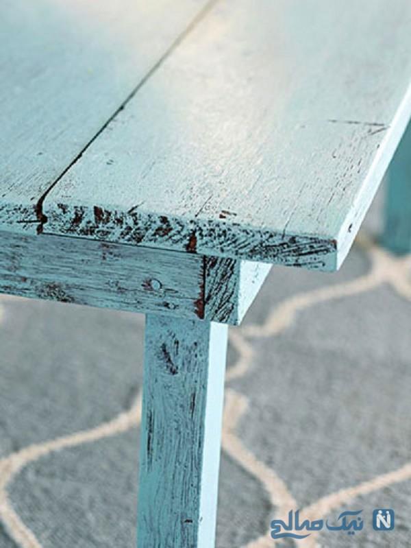 آموزش رنگ کردن میز چوبی