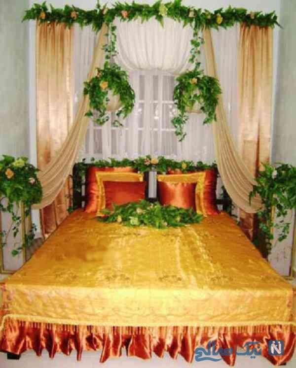تزیین تخت عروس با گل