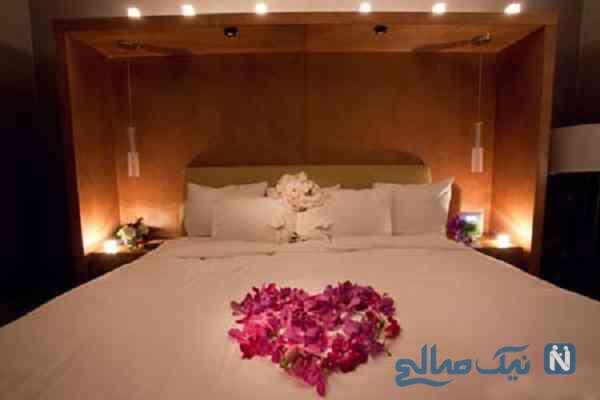 شیک ترین مدل تزیین تخت عروس با گل های طبیعی +تصاویر