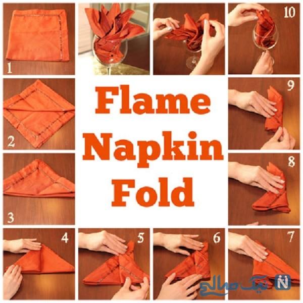 روش تزیین دستمال سفره