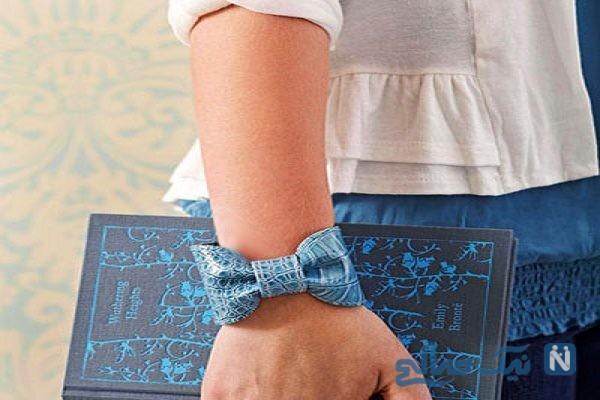 آموزش درست کردن دستبند چرمی بسیارشیک درخانه+تصاویر