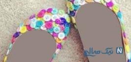 ایده های جدید و جذاب با استفاده از دکمه های رنگی لباسهای کهنه