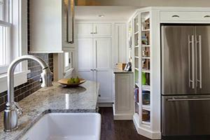 راه حل هایی برای بزرگ تر نشان دادن آشپزخانه نقلی