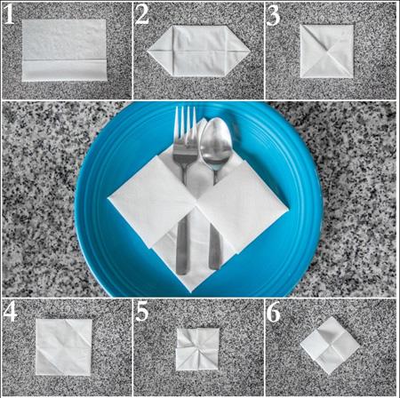 روش های تزیین دستمال سفره