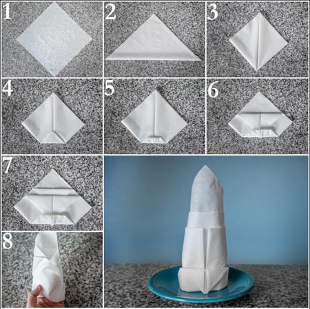 روش های تزیین دستمال سفره+تصاویر