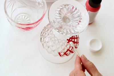 تزئین جام و لیوان