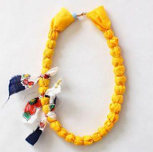 آموزش تصویری ساخت گردنبند با دورریختنی