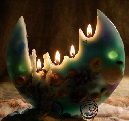 نحوه ساخت شمع تخت یا بشقابی+تصاویر