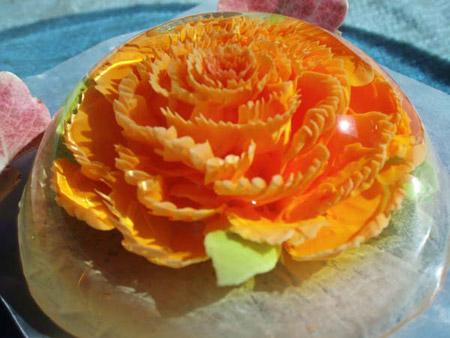 مدل تزیین ژله تزریقی گلدار+تصاویر