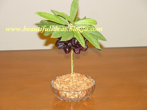 آموزش تصویری میوه آرایی بصورت درخت خرما+ تصاویر