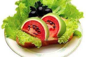 آموزش تزئین دورچین غذا به شکل هندوانه