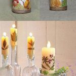 نحوه تزیین شمع هفت سین با برگ های پاییزی+ عکس