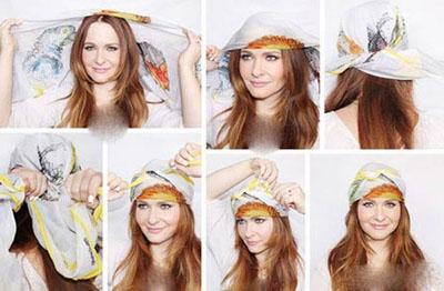 جدیدترین روش های بستن روسری روی موهایتان+تصاویر