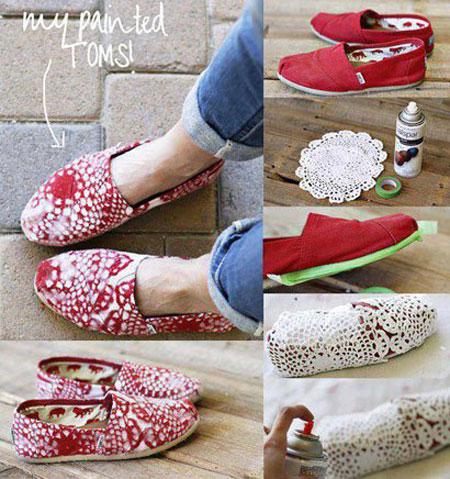 نمونه ای از تزیین کفش های اسپرت