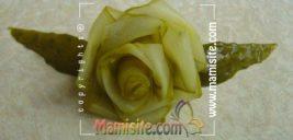 آموزش تصویری تزئین خیارشور به شکل گل رز +تصاویر