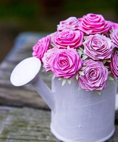 درست کردن گل با کاغذ+تصاویر