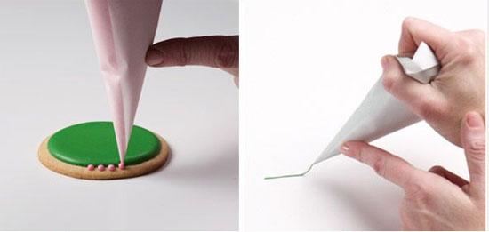 ساخت قیف کاغذی برای تزیین شیرینی +تصاویر