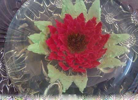 آموزش درست کردن ژله تزریقی به شکل گل+ تصاویر
