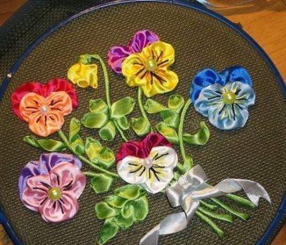 آموزش تصویری دوختن گل بنفشه!+تصاویر