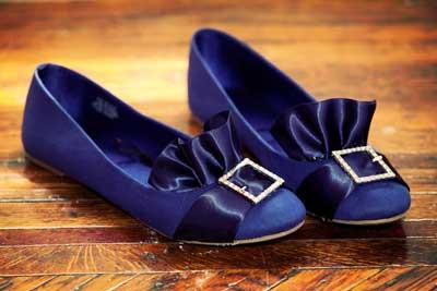 تزیین کفش های عروسکی با روبان+تصاویر