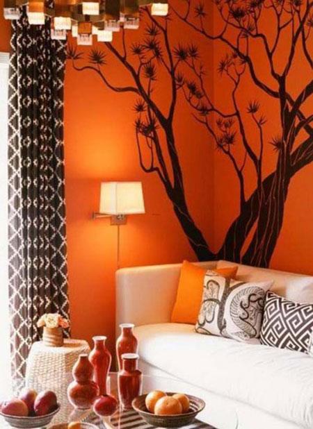 تصاویری زیبا از دکوراسیون نارنجی خانه!