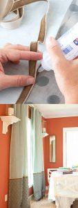 تزیین پرده های ساده با 4 ایده خلاقانه و کم هزینه وشیک در خانه