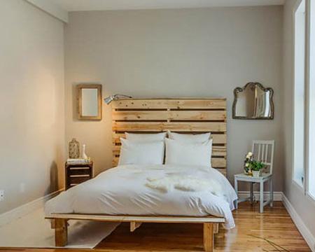 ساخت تخت خواب با پالت های چوبی ساده وشیک+تصاویر