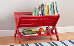 جاکتابی بسیار ساده و قشنگی درخانه برای اتاق کودکتان بسازید