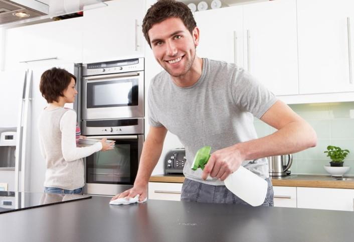 تمیز کردن آشپزخانه با این تکنیک های ساده و راحت وسریع