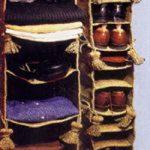 دوخت قفسههای پارچهای ساده و راحت و کم جا در خانه