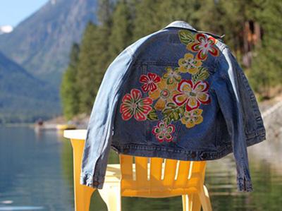 کت های جین خود را در خانه به آسانی طرح دار کنید+تصاویر
