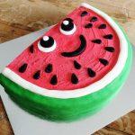 تزیین کیک شب یلدا به شکل هندوانه بسیار زیبا + تصاویر