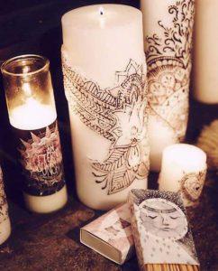 تزیین شمع با وسایل ساده خلاقانه و فانتزی +تصاویر