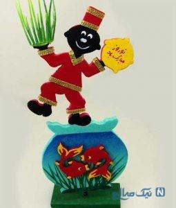 ساخت عروسک حاجی فیروز با خمیر چینی+تصاویر