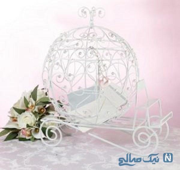 تزیین جای حلقه های ازدواج