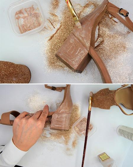 تزیین کفش با اکلیل