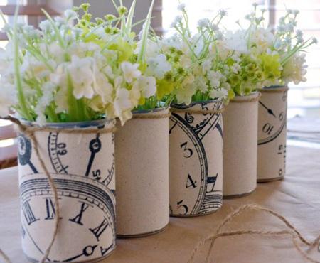 ساخت گلدان با قوطی