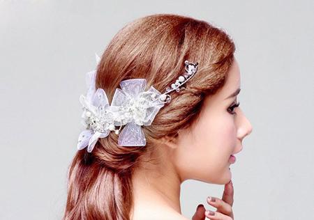 مدل گل سر شینیون